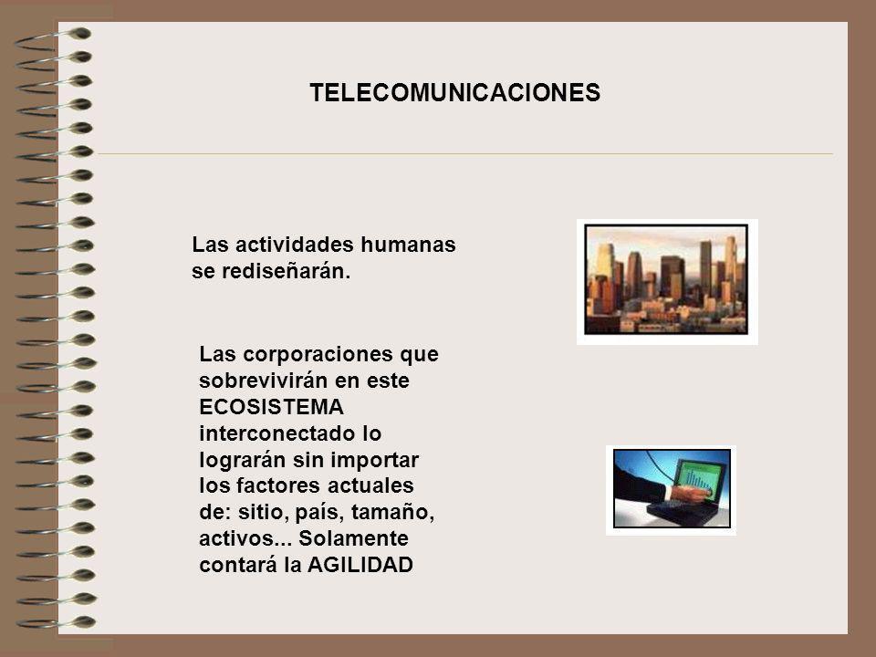 TELECOMUNICACIONES Las actividades humanas se rediseñarán.