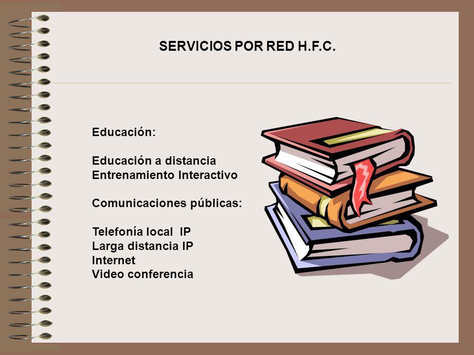 SERVICIOS POR RED H.F.C. Educación: Educación a distancia