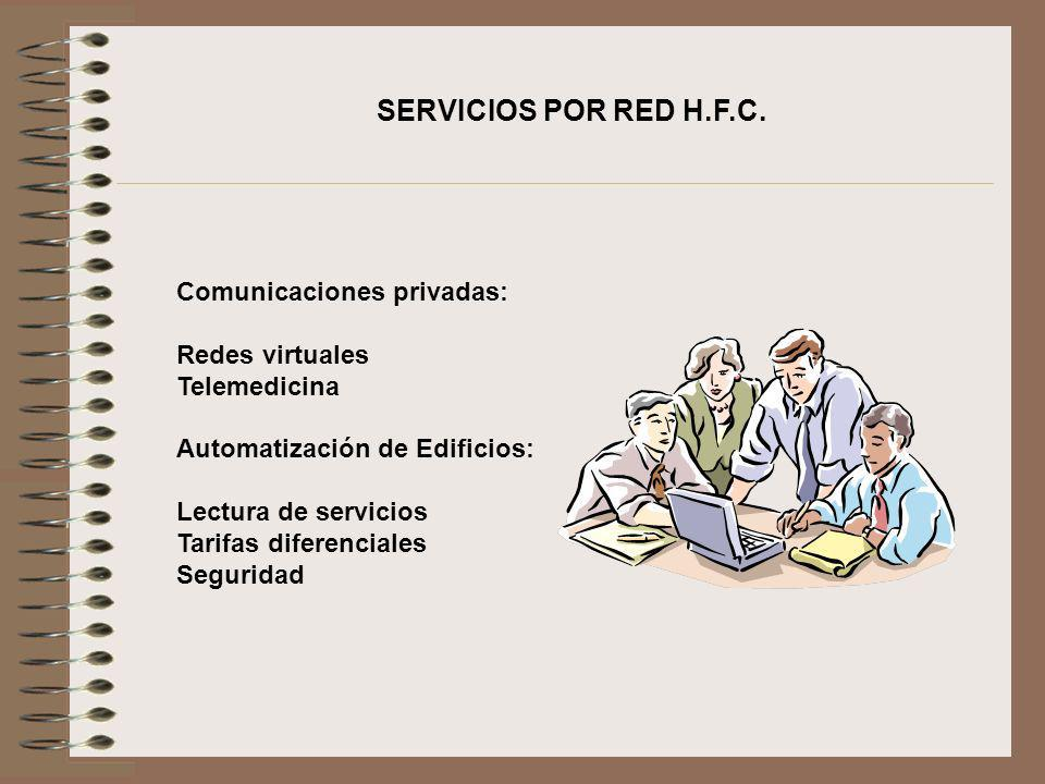 SERVICIOS POR RED H.F.C. Comunicaciones privadas: Redes virtuales