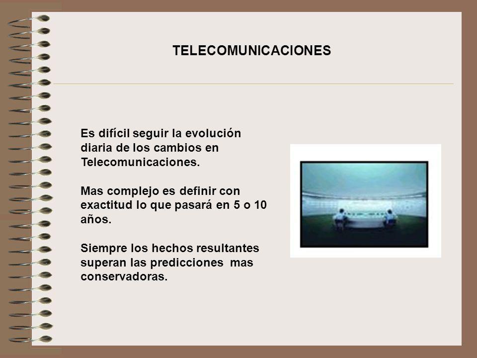 TELECOMUNICACIONESEs difícil seguir la evolución diaria de los cambios en Telecomunicaciones.