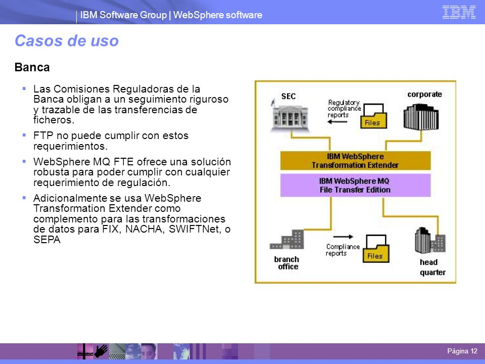 Casos de uso Banca. Las Comisiones Reguladoras de la Banca obligan a un seguimiento riguroso y trazable de las transferencias de ficheros.