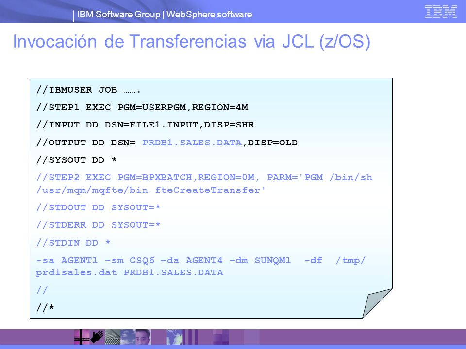 Invocación de Transferencias via JCL (z/OS)