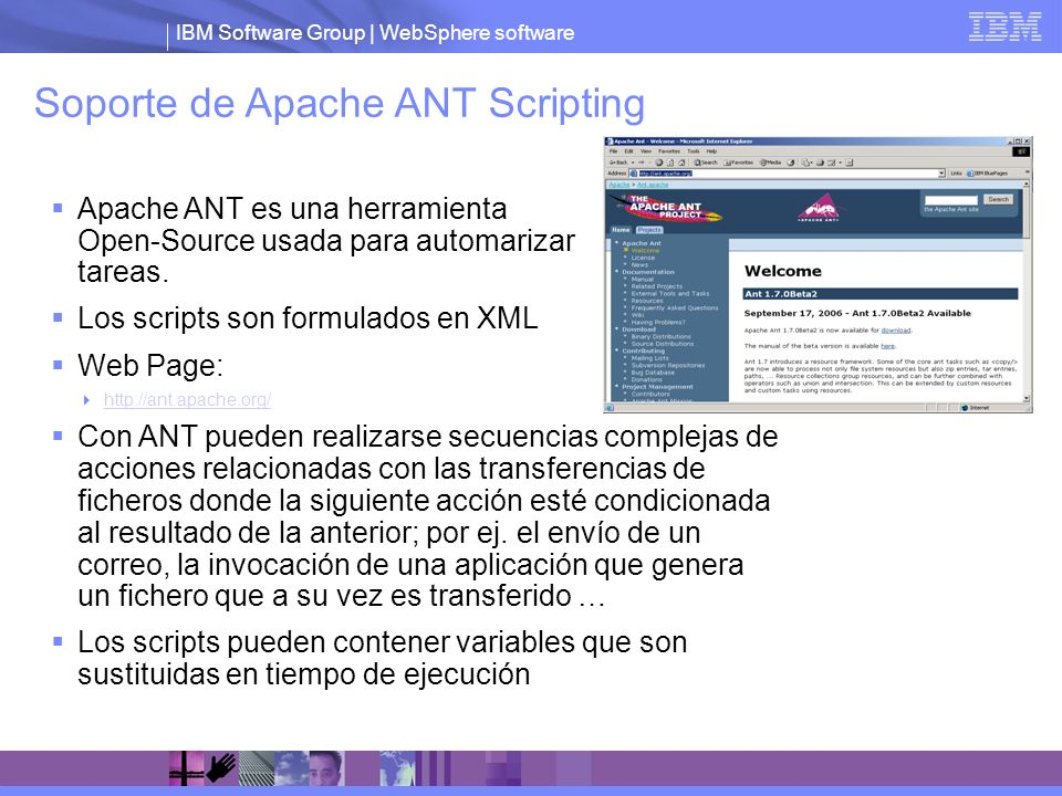 Soporte de Apache ANT Scripting