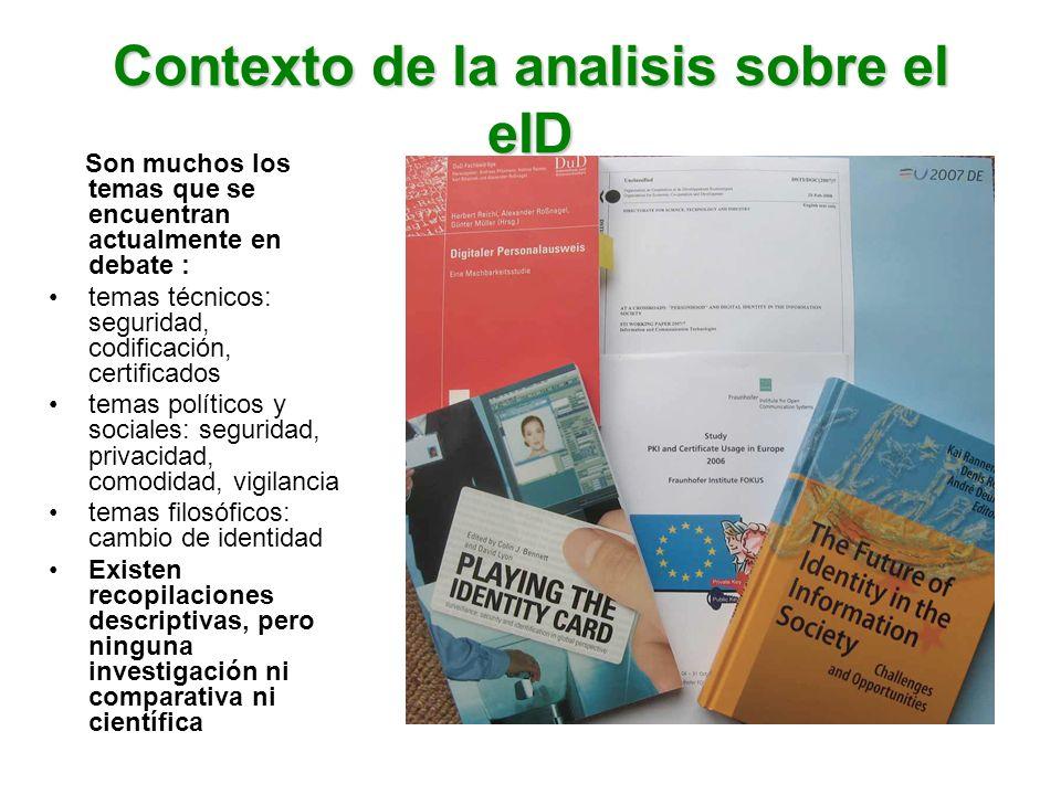 Contexto de la analisis sobre el eID