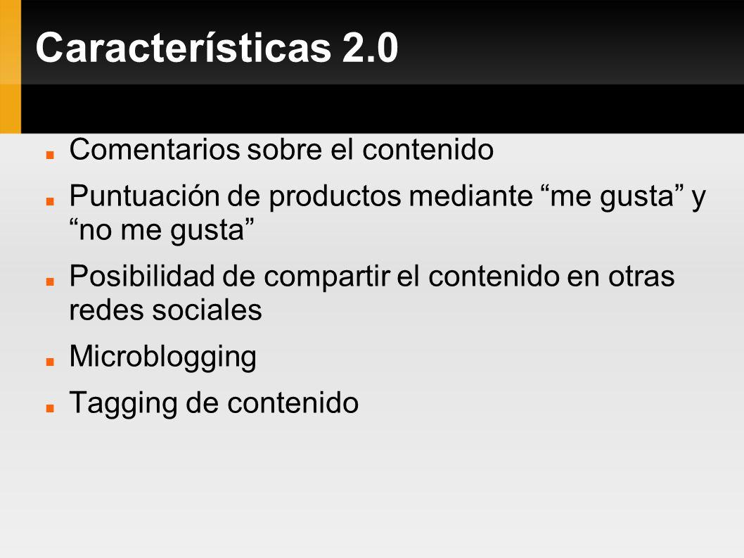 Características 2.0 Comentarios sobre el contenido