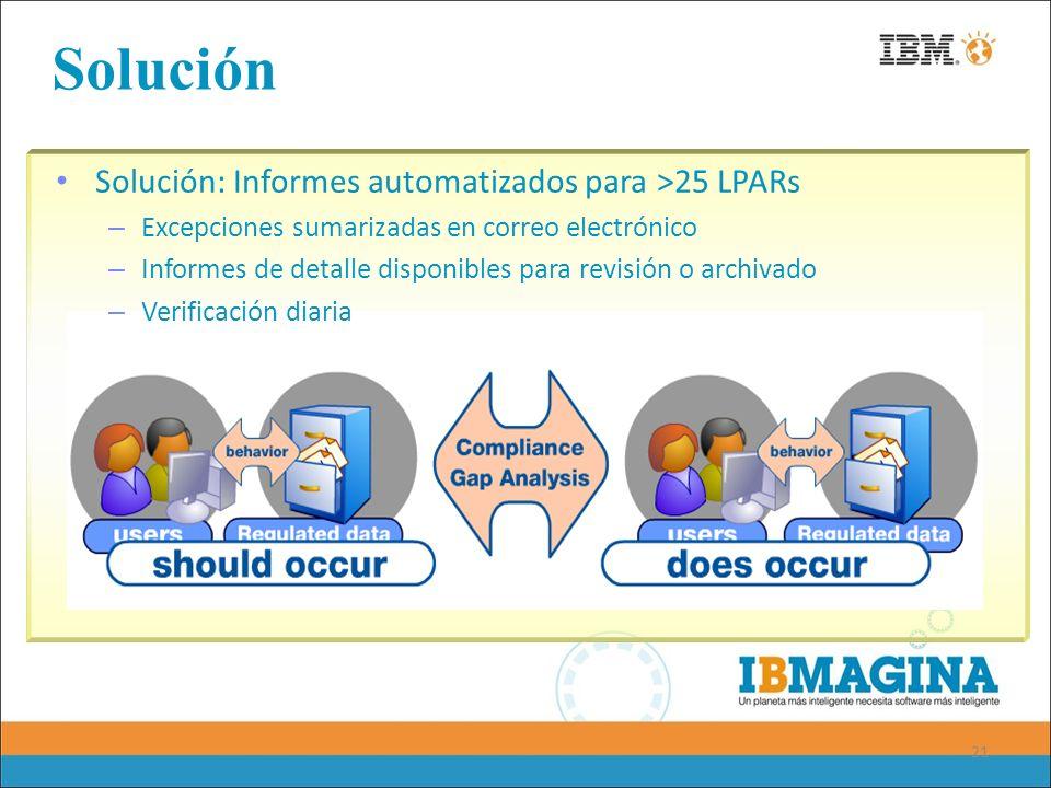 Solución Solución: Informes automatizados para >25 LPARs
