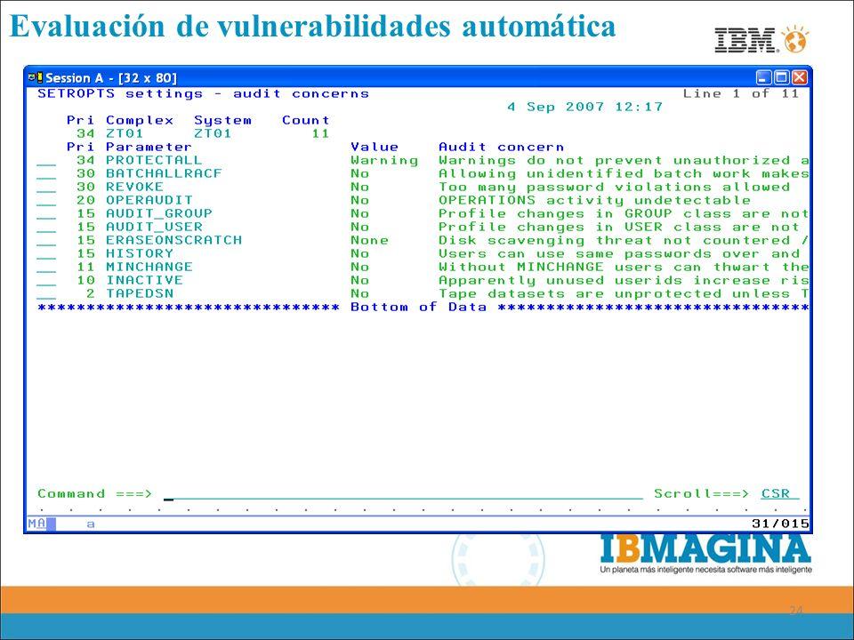 Evaluación de vulnerabilidades automática
