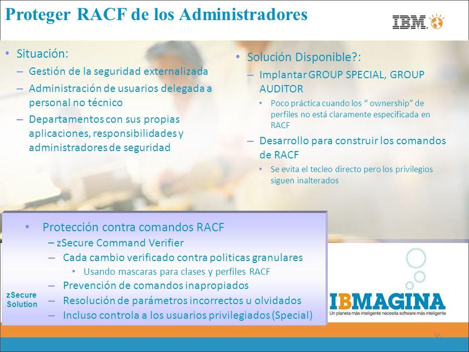 Proteger RACF de los Administradores