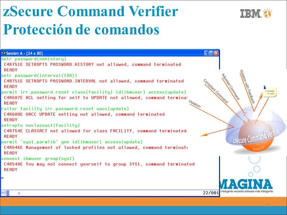 zSecure Command Verifier Protección de comandos