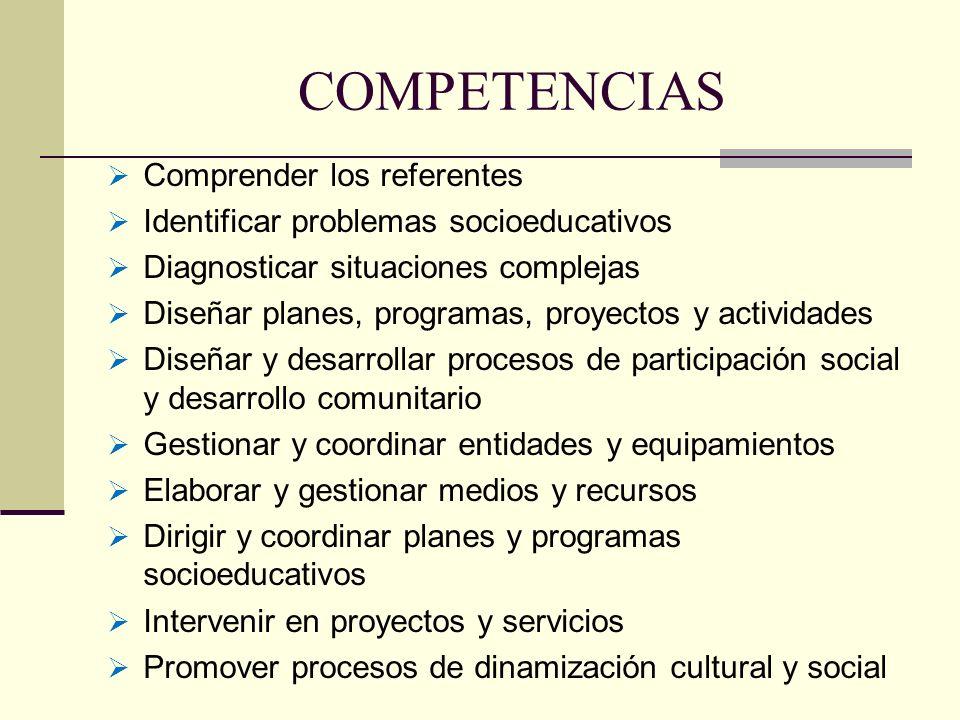 COMPETENCIAS Comprender los referentes