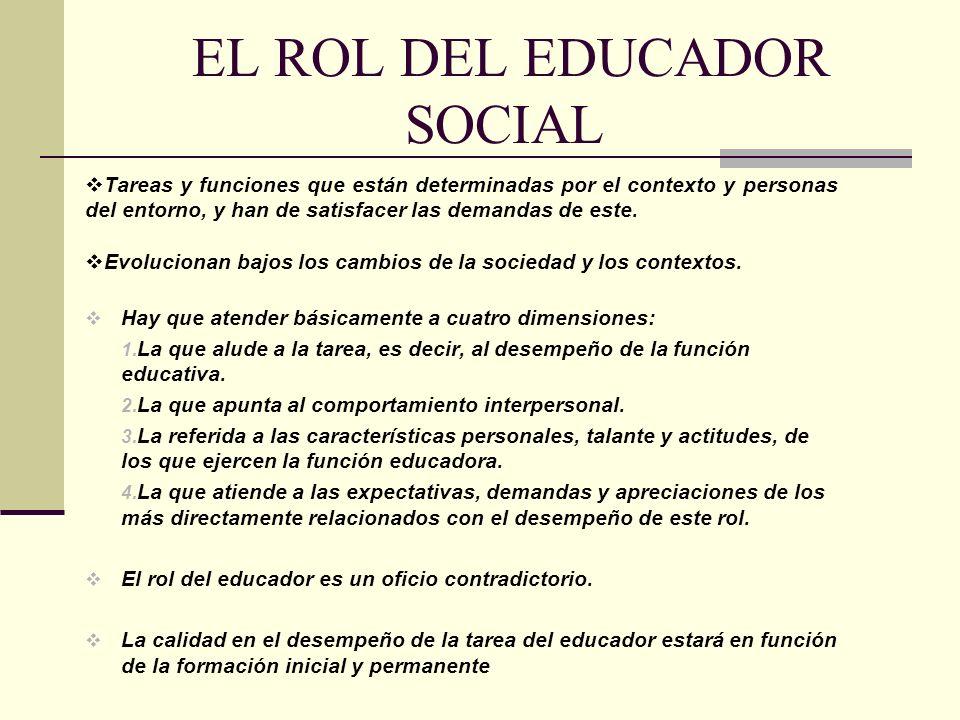 EL ROL DEL EDUCADOR SOCIAL