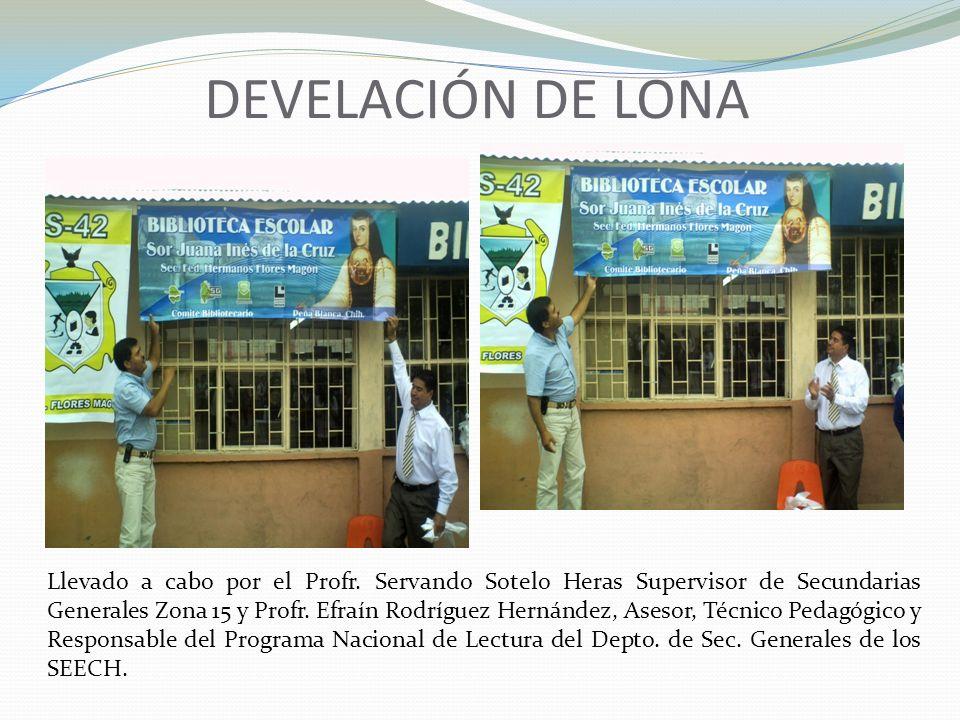 DEVELACIÓN DE LONA
