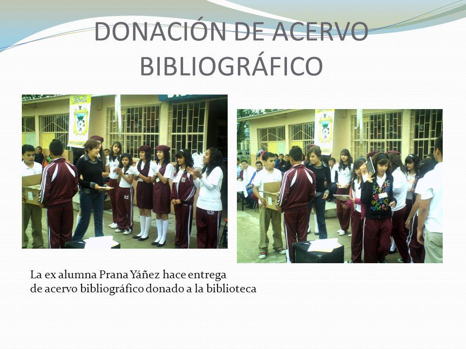DONACIÓN DE ACERVO BIBLIOGRÁFICO