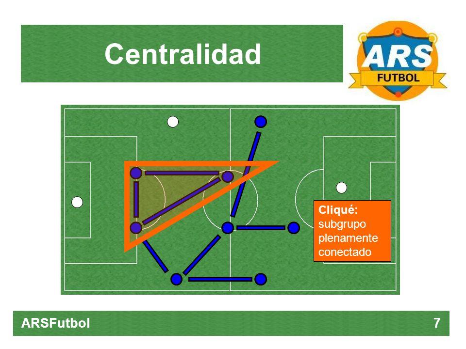 CentralidadCliqué: subgrupo plenamente conectado.