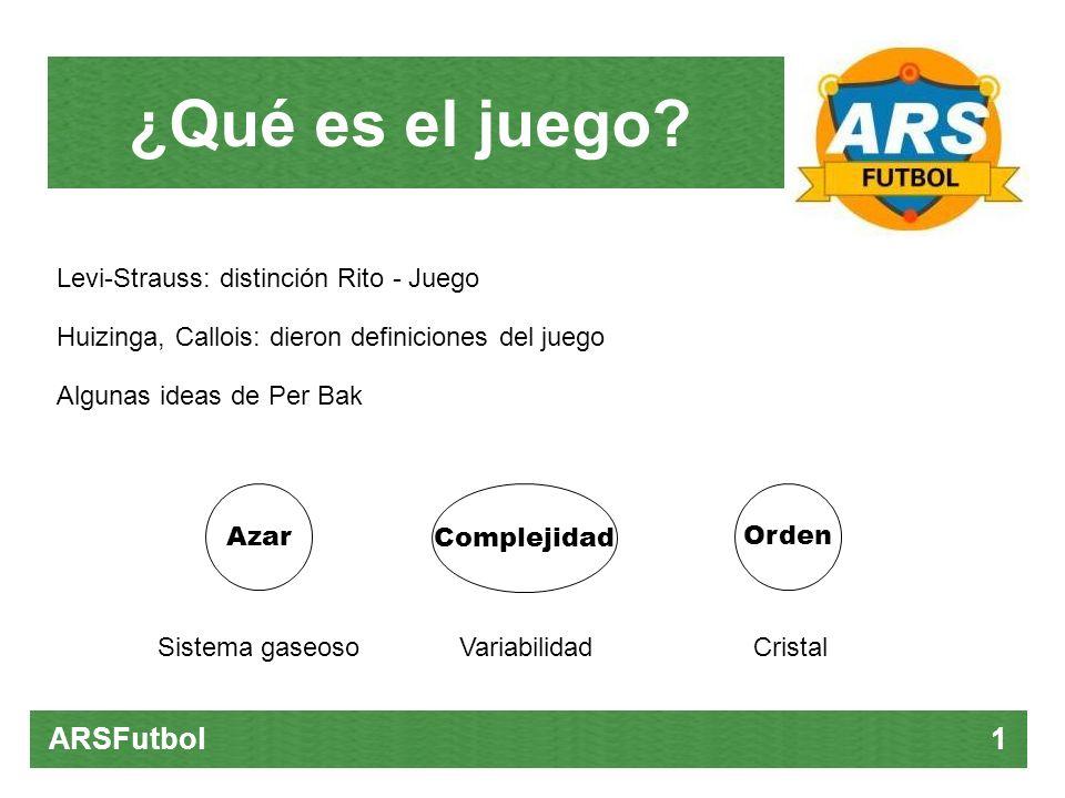 ¿Qué es el juego ARSFutbol 1 Levi-Strauss: distinción Rito - Juego