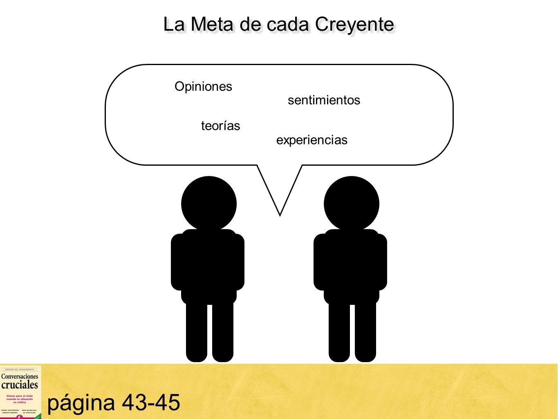 La Meta de cada Creyente