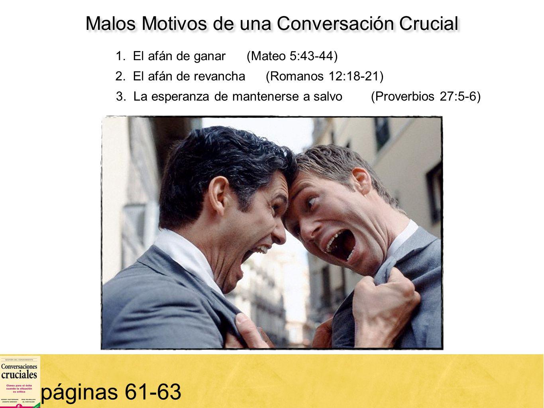 Malos Motivos de una Conversación Crucial