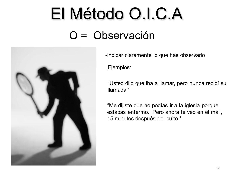 El Método O.I.C.A O = Observación
