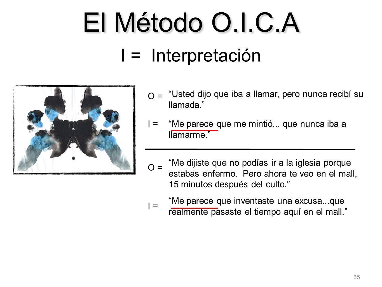 El Método O.I.C.A I = Interpretación