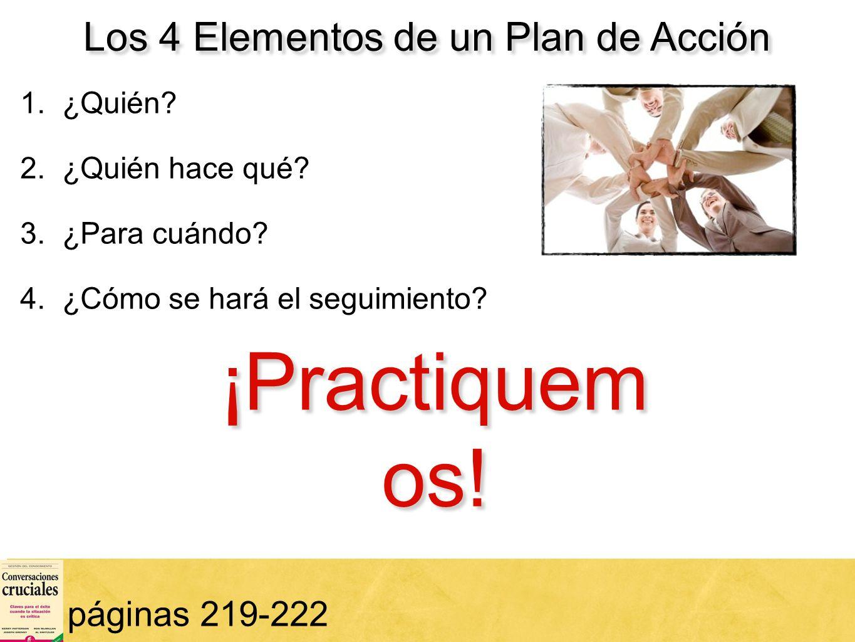 Los 4 Elementos de un Plan de Acción