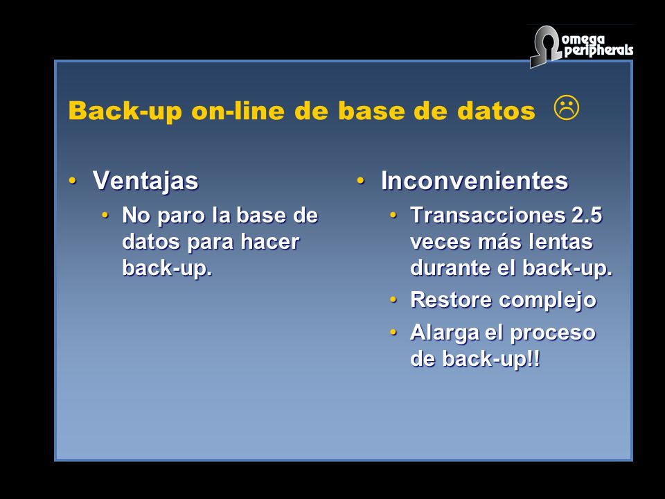 Back-up on-line de base de datos 