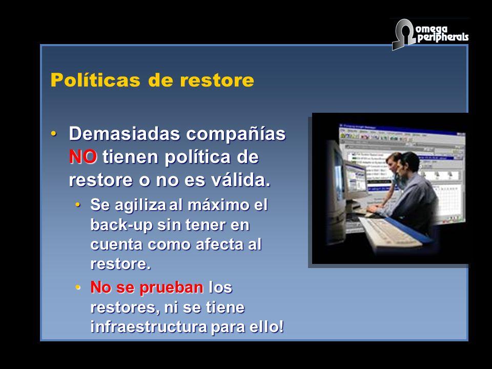 Demasiadas compañías NO tienen política de restore o no es válida.