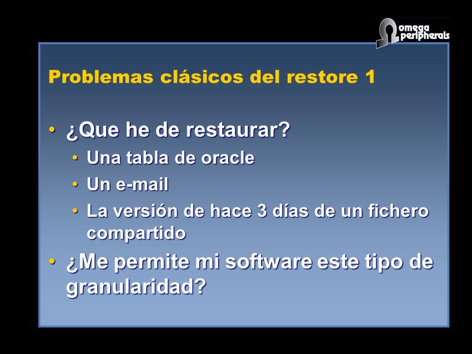 Problemas clásicos del restore 1