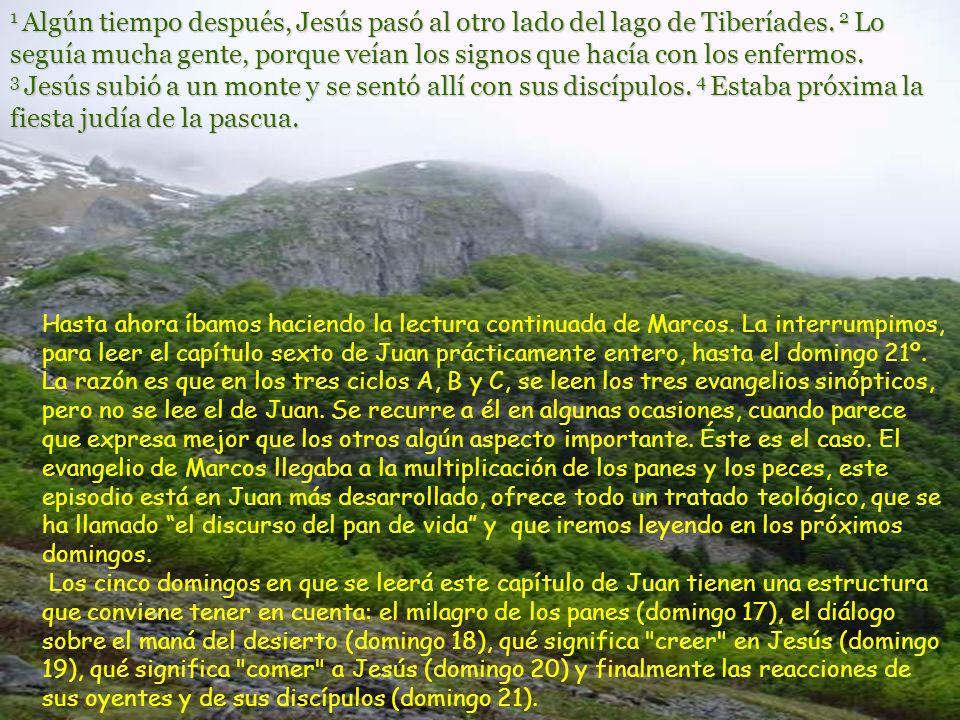 1 Algún tiempo después, Jesús pasó al otro lado del lago de Tiberíades