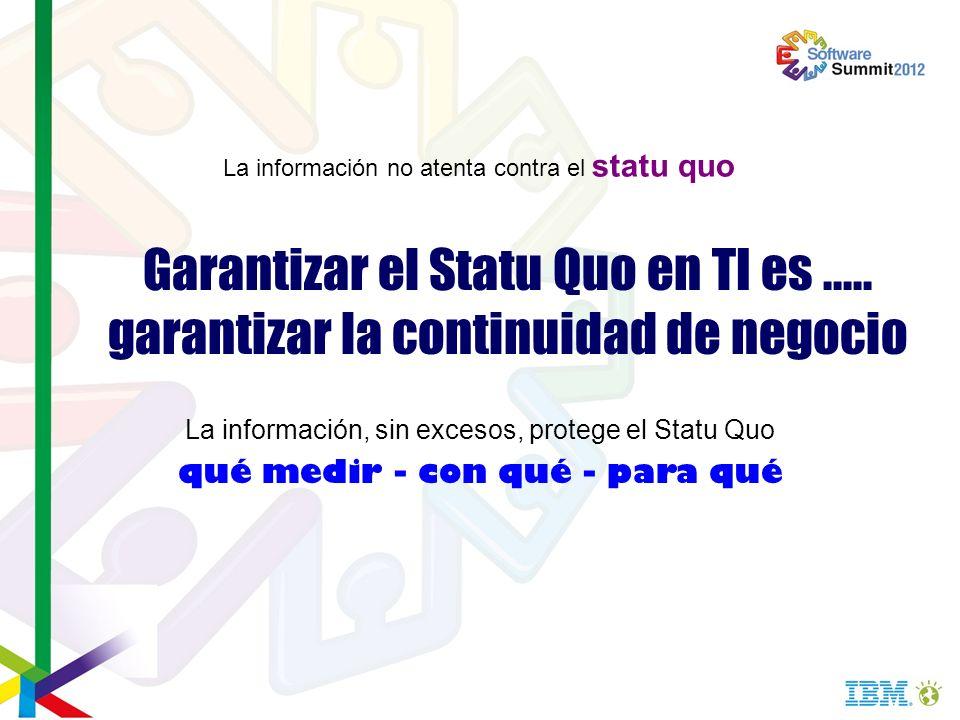 La información no atenta contra el statu quo