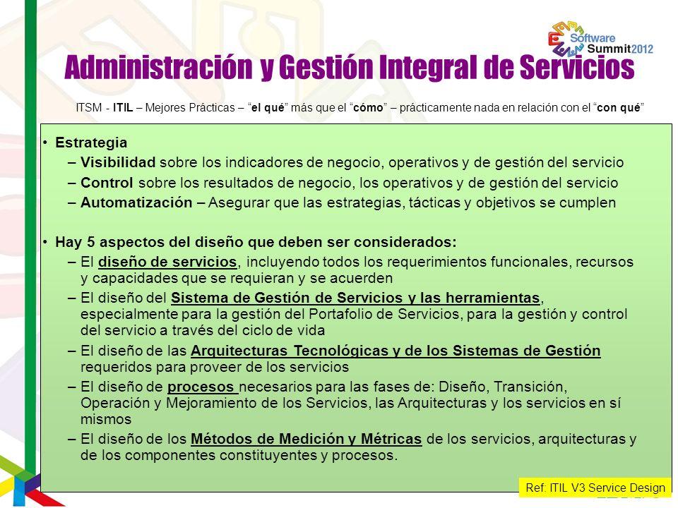 Administración y Gestión Integral de Servicios
