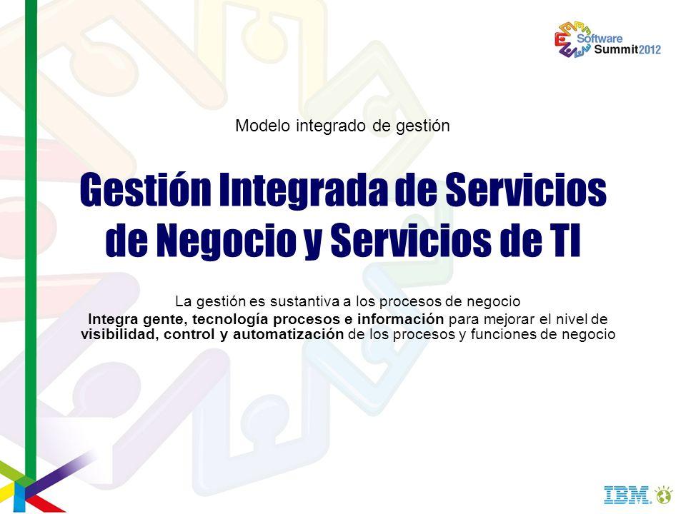 Gestión Integrada de Servicios de Negocio y Servicios de TI