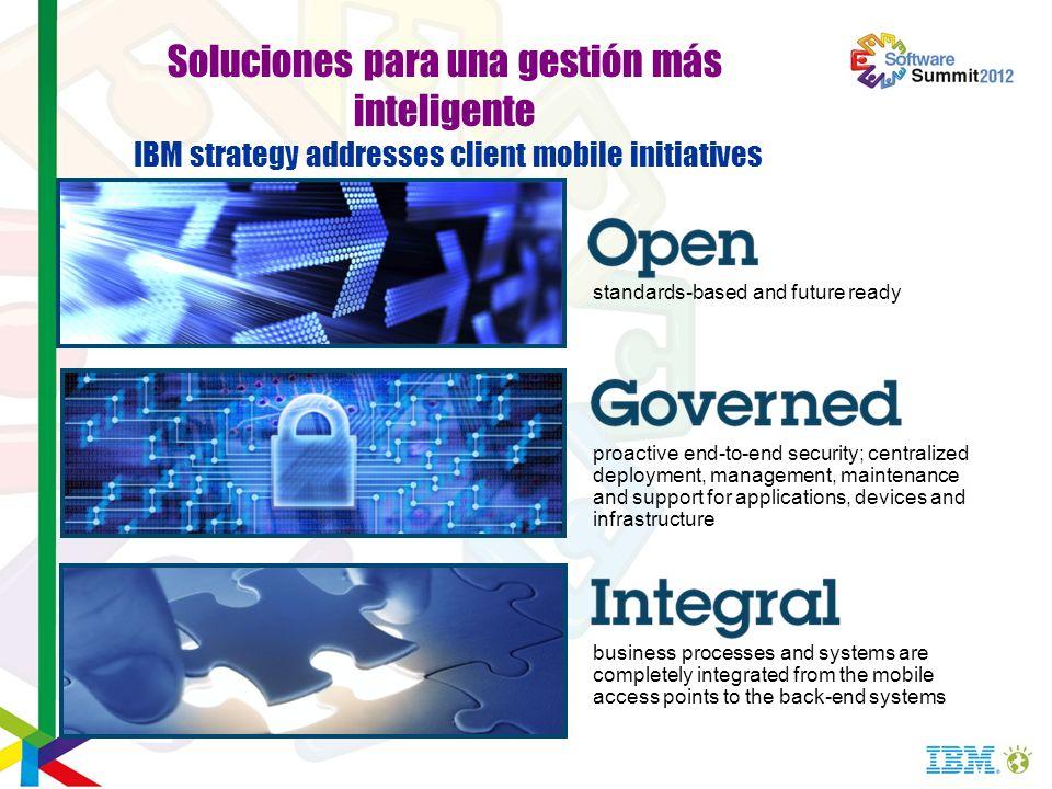 Soluciones para una gestión más inteligente IBM strategy addresses client mobile initiatives
