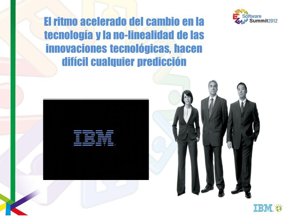 El ritmo acelerado del cambio en la tecnología y la no-linealidad de las innovaciones tecnológicas, hacen difícil cualquier predicción