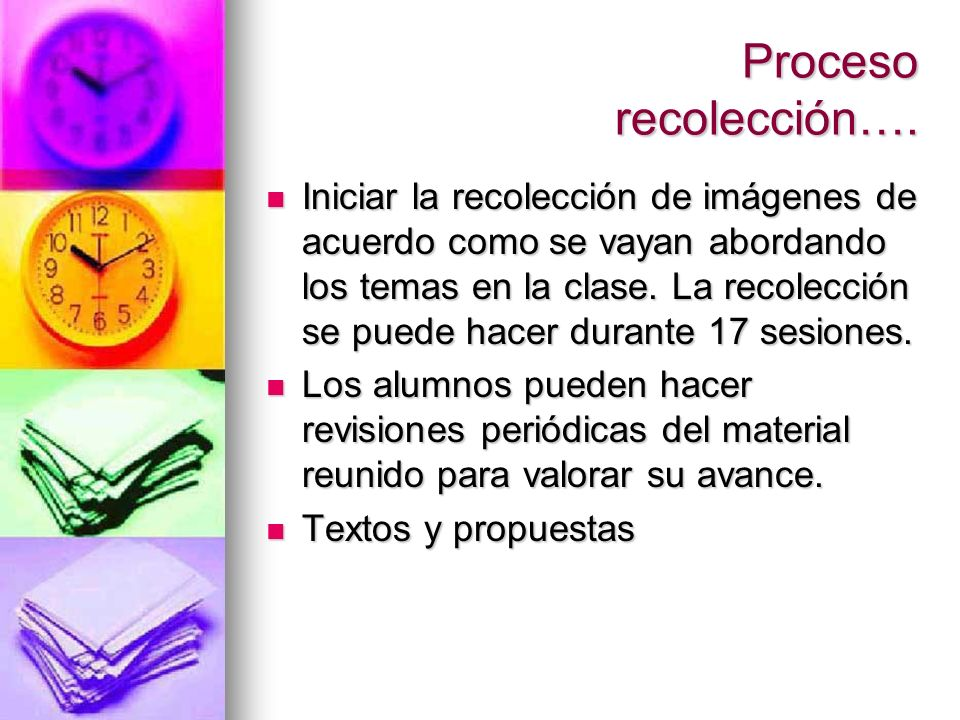 Proceso recolección….