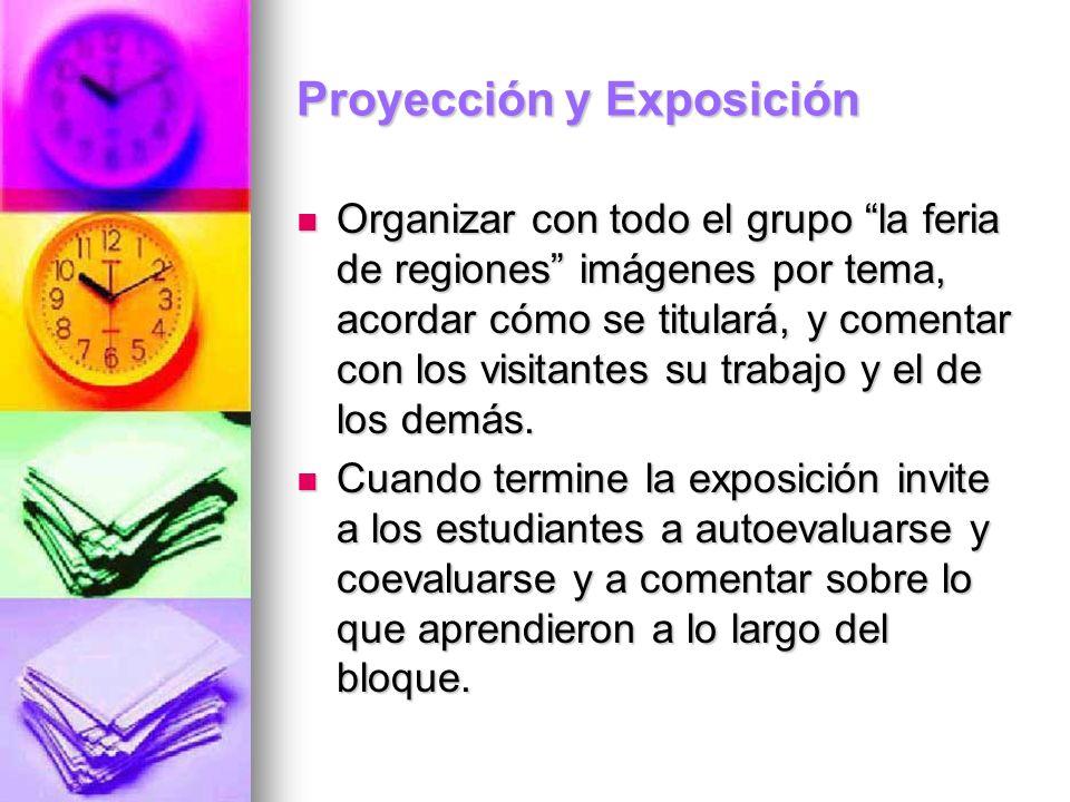 Proyección y Exposición
