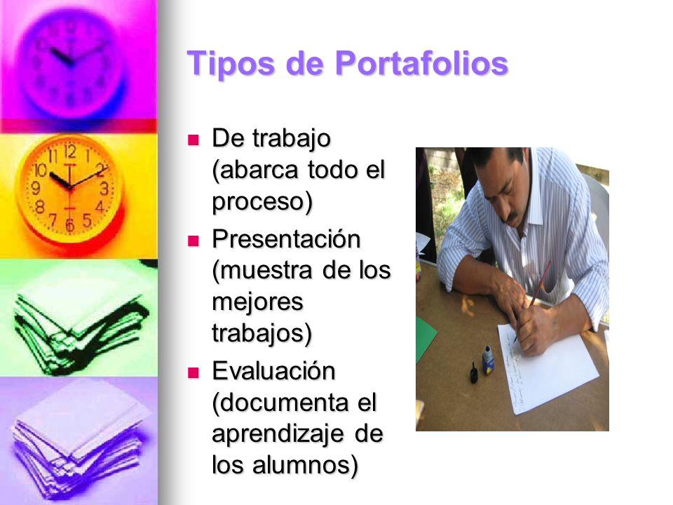 Tipos de Portafolios De trabajo (abarca todo el proceso)