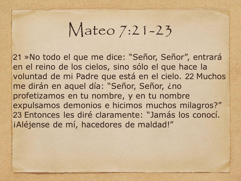 Mateo 7:21-23