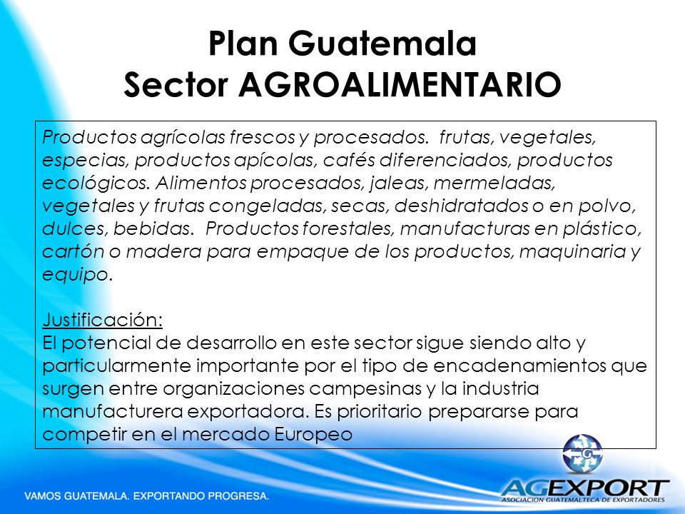Plan Guatemala Sector AGROALIMENTARIO