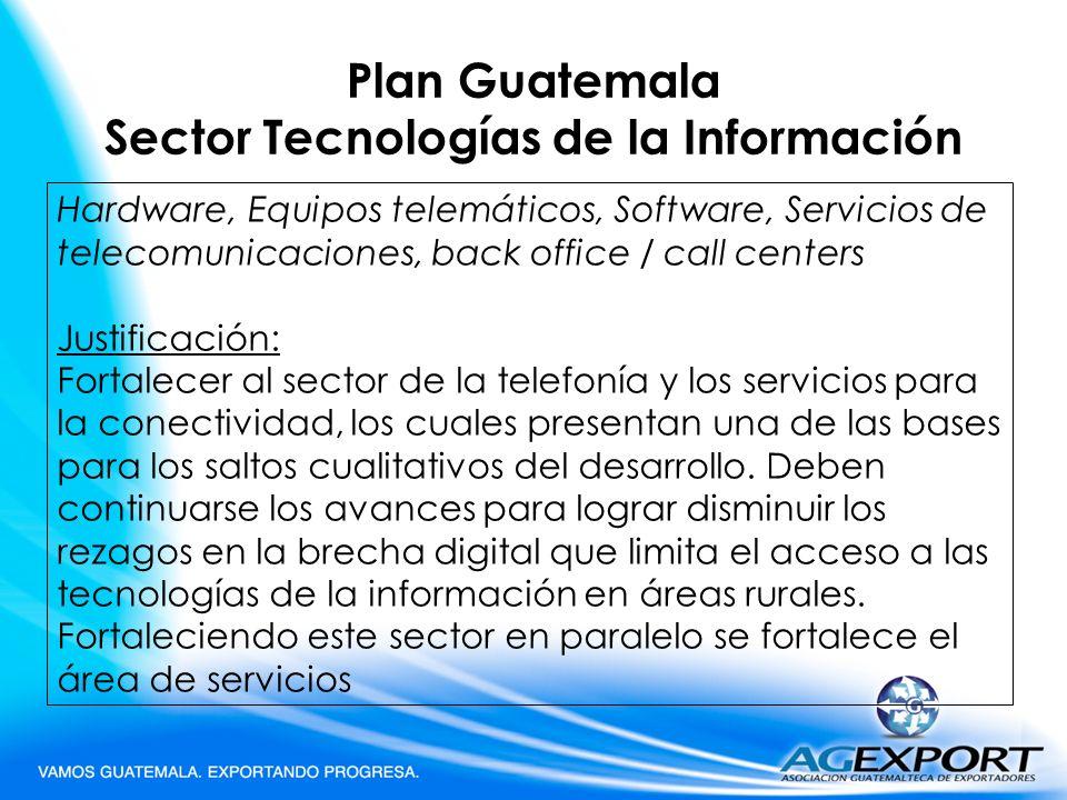 Plan Guatemala Sector Tecnologías de la Información
