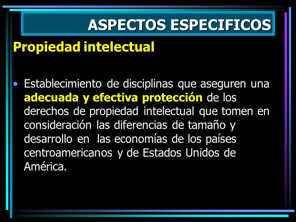 ASPECTOS ESPECIFICOS Propiedad intelectual