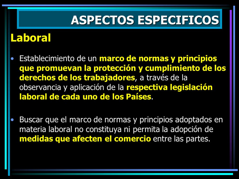 ASPECTOS ESPECIFICOS Laboral