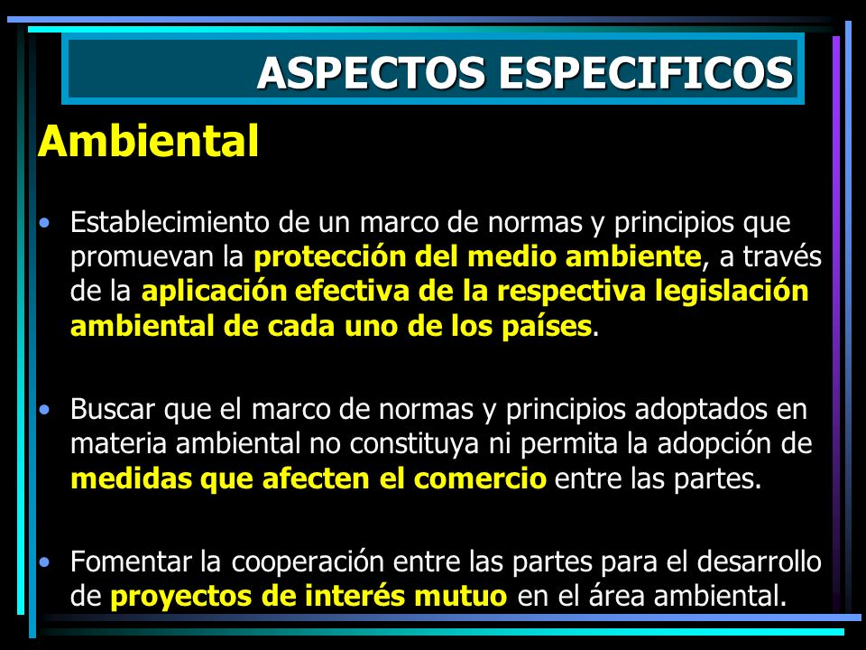 ASPECTOS ESPECIFICOS Ambiental