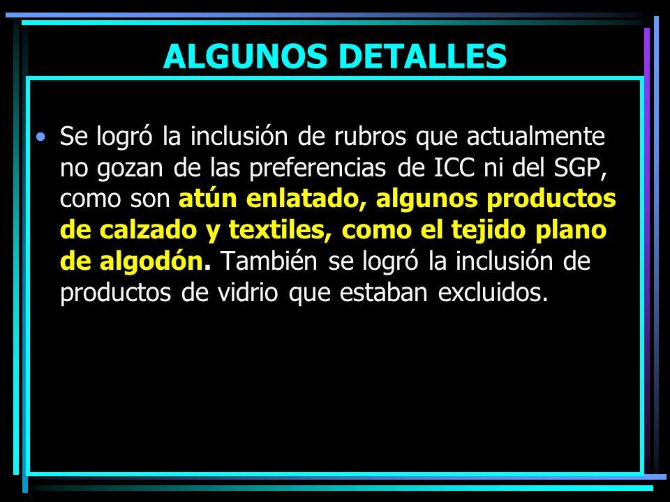 ALGUNOS DETALLES