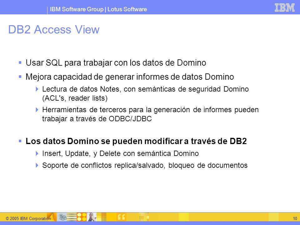 DB2 Access View Usar SQL para trabajar con los datos de Domino