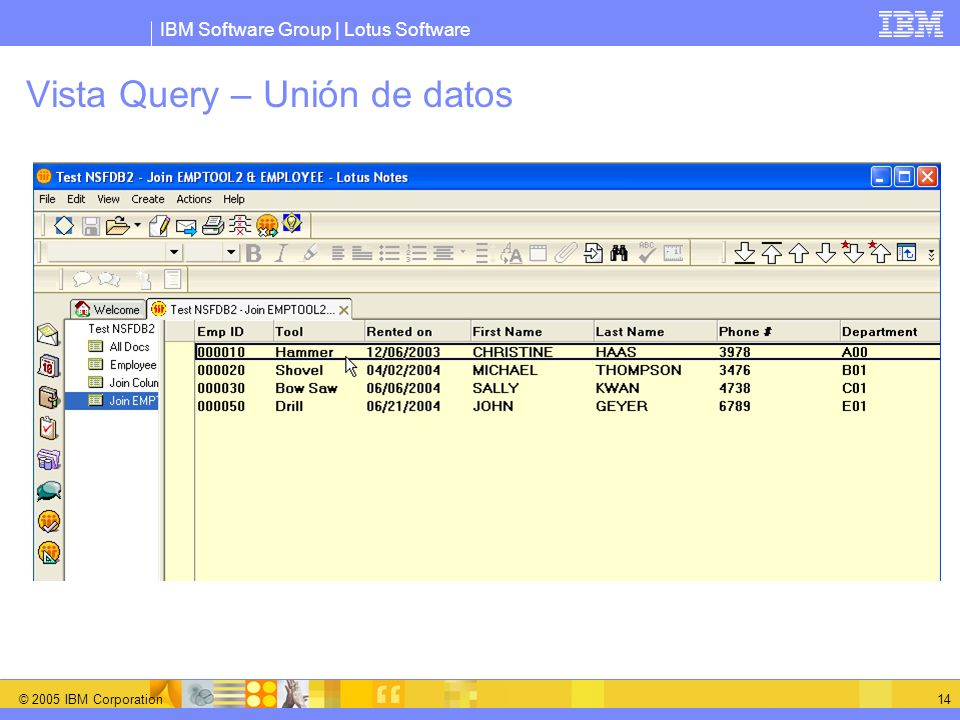Vista Query – Unión de datos