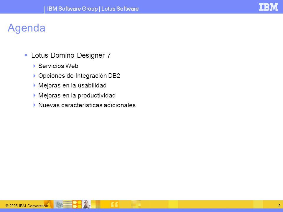 Agenda Lotus Domino Designer 7 Servicios Web
