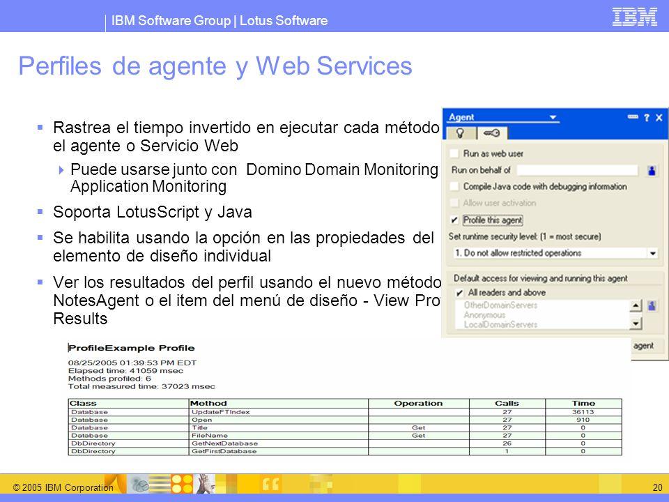 Perfiles de agente y Web Services