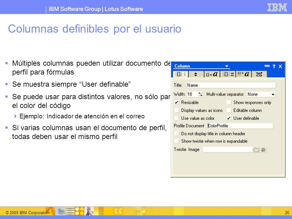Columnas definibles por el usuario
