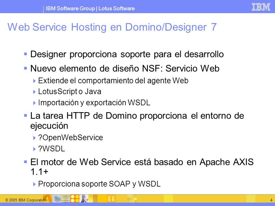 Web Service Hosting en Domino/Designer 7