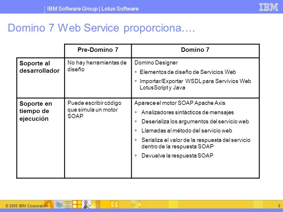 Domino 7 Web Service proporciona….
